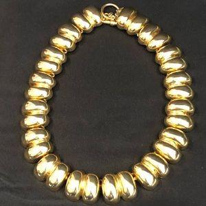 Ann Kline Gold Tone Choker Double Link Vintage